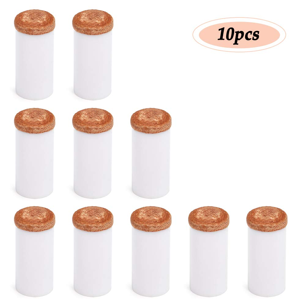 Explopur 10 Piezas Puntas de Taco de Piscina Taco de Taco de pl/ástico Duro F/érulas Cabeza de Taco de Billar 12MM 13MM