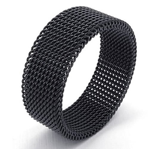 [Bishilin Stainless Steel Fashion Men's Rings Mesh Width 8mm Screen Black Size 8] (Punisher Costumes For Sale)