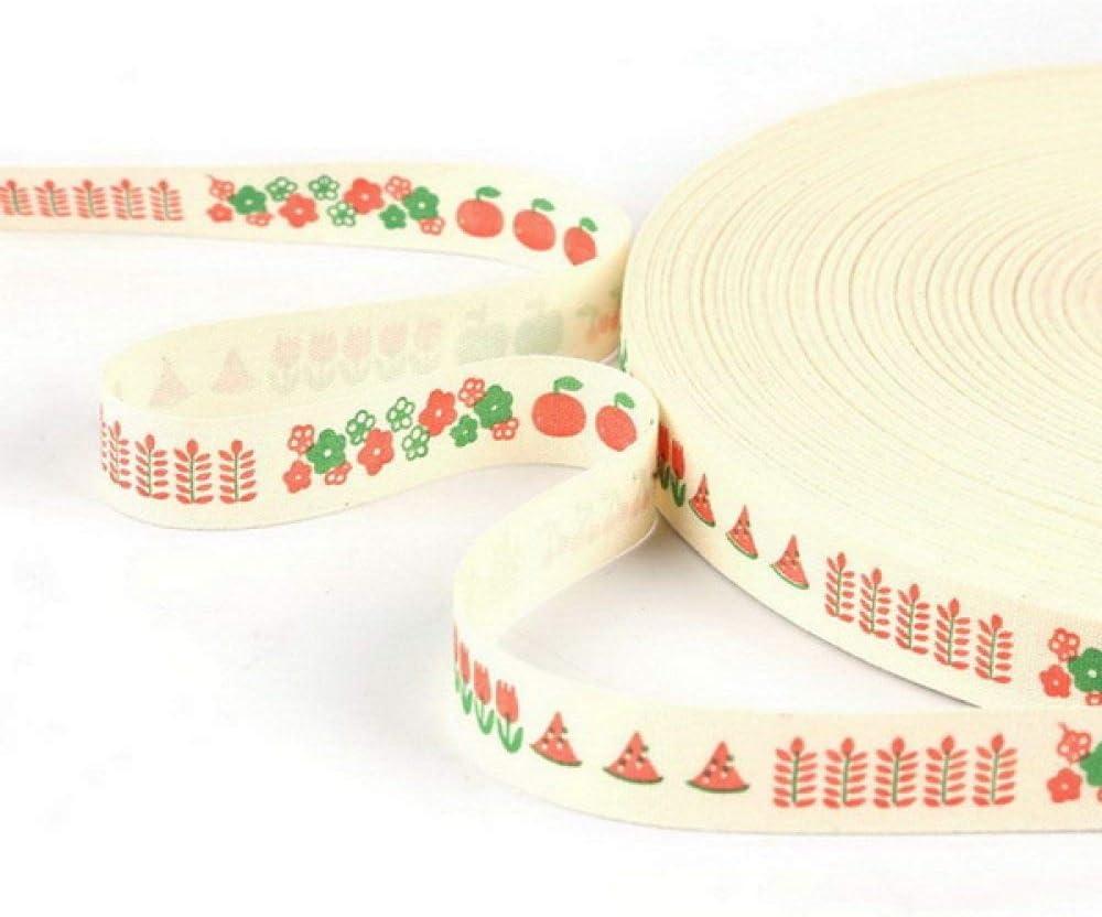 DYL/&CDAI Band Geschenkband 5 Yards 15mm Geschenkverpackung Weihnachtsband /& quot; Weihnachten /& quot;/Design gedruckt Baumwollband N/ähen Stoff Hochzeit Weihnachtsdekoration 01