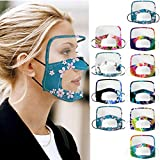 10PCS Face Shield with Clear Mouth Window Dustproof Face Guard with Eye Shield for Deaf Mouth Man or Women