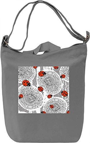 Ladybird Pattern Borsa Giornaliera Canvas Canvas Day Bag| 100% Premium Cotton Canvas| DTG Printing|