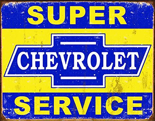 Desperate Enterprises Super Chevy Service Collectible Metal Sign, Model# 1355, 17x13