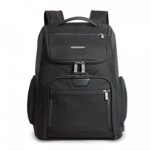 Briggs & Riley @ Work Large U Zip Backpack, Black, One Size (Boyt Nylon Backpack)