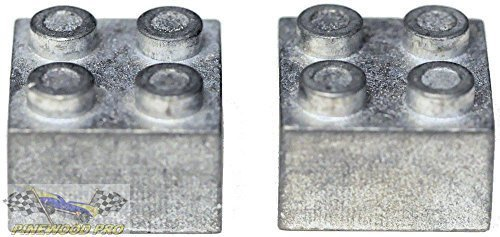 Pinewood Pro Zinc Brick Weight for Lego(R) Derby Car Racing (Set of 2) from (Best Weight For Pinewood Derby Car)