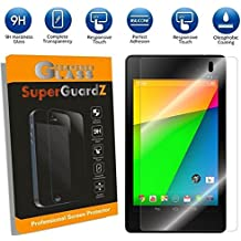 Google Nexus 7 2nd Generation (2013) - SuperGuardZ Tempered Glass Screen Protector [1 PACK] - 9H, Anti-Scratch, Anti-Bubble, Shatterproof [Lifetime Warranty] + Silver Stylus Pen