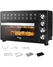 Electric Oven Air Fryer with 28L Capacity Barbecue Rotisserie French Fries Convection Oven Time and Temperature Control French Door Grill