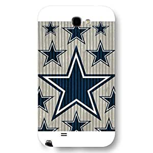 UniqueBox Customized NFL Series Case for Samsung Galaxy Note 2, NFL Team Dallas Cowboys Logo Samsung Galaxy Note 2 Case, Only Fit for Samsung Galaxy Note 2 (White Frosted Shell)