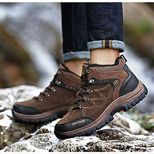da Escursioni Caldo Caldo Caldo Scarpe Scarpe Uomo Dimensioni A A A A Ginnastica Brown Sneakers Grandi RLYAY Piedi Casual Antiscivolo Invernali 0IBwqvq5