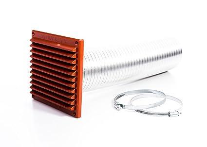 Rytons construcción productos dvkit100tc directa Kit de ventilación para estufas con externo rejilla de rejilla,