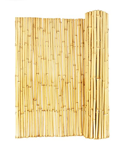 Cheap  Backyard X-Scapes Natural Rolled Bamboo Fence .75in D x 3ft H x..