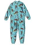 Nick & Nora Women's Sock Monkey Fleece One Piece Pajamas Aqua (XX-Large)