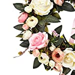 Sunm-Boutique-Rose-Floral-Twig-Wreath-14-Handmade-Silk-Rose-Flower-Door-Wreath-with-Green-Leaves-Vintage-Artificial-Flowers-for-Front-Door-Wedding-Wall-Home-Decor