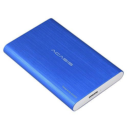 External 120gb 5400rpm Drive Hard - 120GB Acasis Portable External Hard Drive USB3.0 HDD USB Disk for Computer Laptop (120GB, Blue)