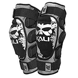 Kali Protectives Aazis Soft Torn Knee Guard, Black/Grey, Small
