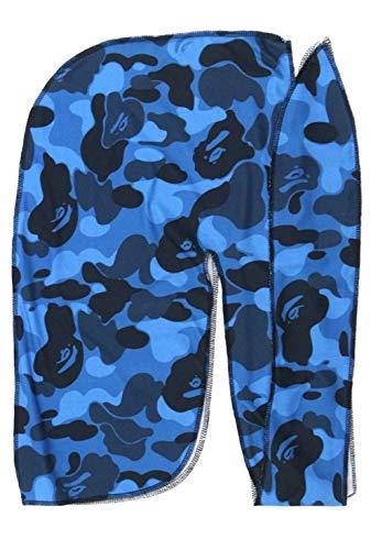 Customs Slippery Apparel | Designer Durag Fashion Durags LV Supreme Ape & More - Limited Edition (Blue Ape)