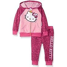 Hello Kitty Girls' 2 Piece Hoodie Pant Fleece Active Set
