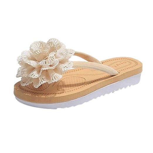 c06ec483e {Minikoad} Women Flat Sandals,Lady Flip Flops Slipper Beach Flower Sandals  (US