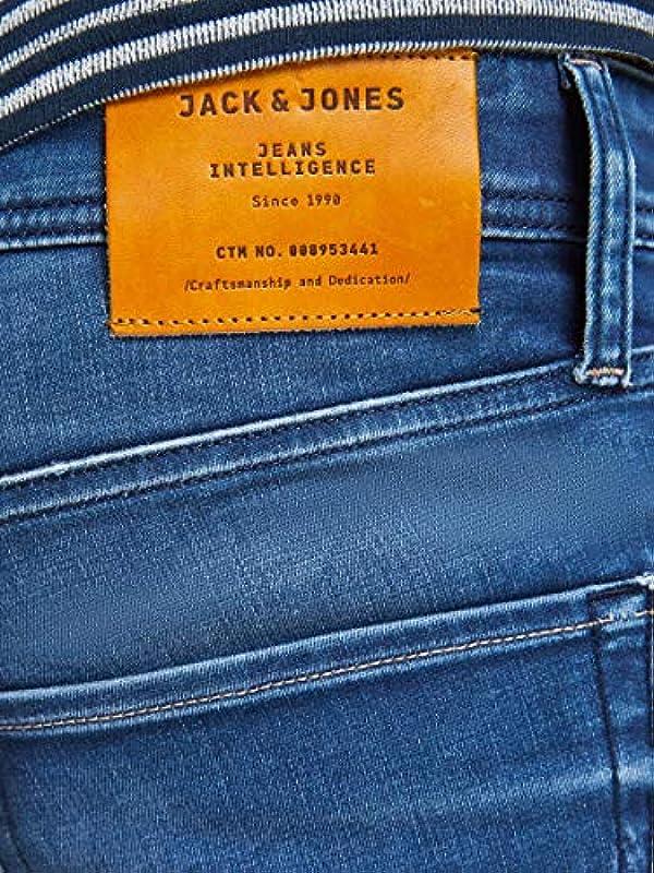 JACK & JONES Męskie dżinsy Slim/Straight Fit Tim Original JOS 519: Odzież