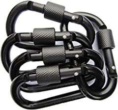 Search No More! You Have Arrived At Your Ideal Aluminum D-ring Locking Carabiners From LeBeila Products!●Product Name: LeBeila Carabiner Clip Aluminum D-Ring Carabiners - 5 Pack Screw Locking Buckle Hook D Shape Spring Snap Keychain Clips, St...