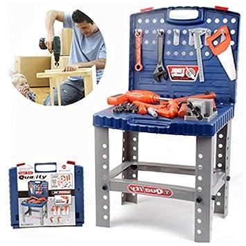 Amazon.com: Nueva llegada niños caja de herramientas juguete ...