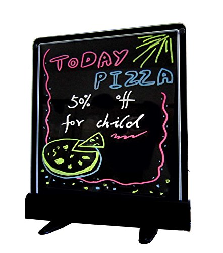 FlashingBoards LED Fluorescent Illuminated Writing Menu Sign - Neon Eraser Board