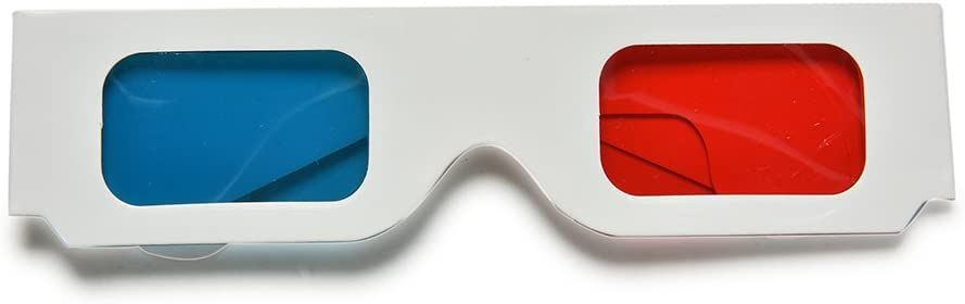 Ioffersuper 10Pc X Universal Anaglyph Cardboard Paper Red Blue Cyan 3D Glasses for Movie