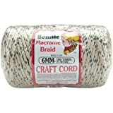 Pepperell BB6-100-116 Beading Cords and Threads 6mm Bonnie Macramé Craft Cord, 100-Yard, Forest Chip