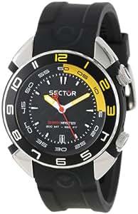 Sector Shark Master R3251178125 - Reloj de caballero de cuarzo, correa de silicona color negro