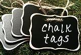 4 Fancy Wood Chalkboard Tags, Chalkboard Beverage Tags, Chalkboard Labels, Chalkboard Basket Tags