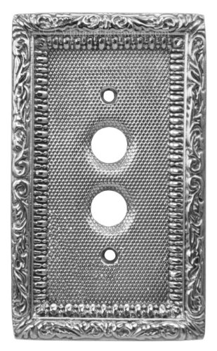 Victorian Single Gang Push Button Switchplate Cover (L-NW7)