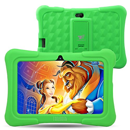 Dragon Touch Y88X Plus 7 inch Kids Tablet 2017 Version, Kidoz Pre-Installed with All-New Disney Content (more than $80 Value) - Green by Dragon Touch