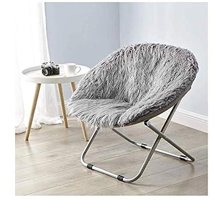 Amazon.com: Faux Fur Saucer Chair – Beautiful College ...