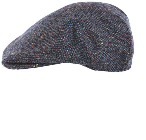 Hanna Hats of Donegal.Irish Flat Cap.Donegal Tweed.Blue Tweed