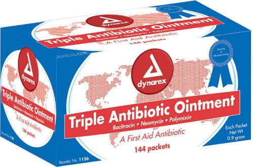 (Dynarex Corporation (n) Triple Antibiotic Ointment 9 Gm Foil Pack Bx/)