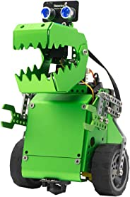 Robobloq Q-Dino 2 in 1 Programming Robot Kit, STEM Education, DIY Mechanical Building Programmable Robotic Toy with Remote Co