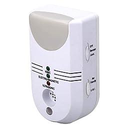 Répulsif ultrasonique anti-parasitaire, ultrasonique 5 en 1 à brancher, anti-parasitaire avec ioniseur électromagnétique et lumière, pour cafards, souris, rongeurs, araignées, mouches, fourmis