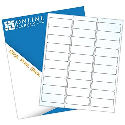 Online Labels - Waterproof Clear Gloss Address Labels - 2.625
