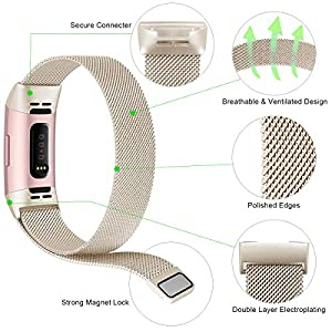 Find-MyWay Replacement Compatible Fitbit Charge 3 Bands /Charge3 SE