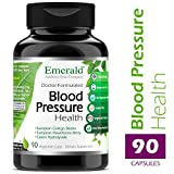 Blood Pressure Health – with European Ginkgo Biloba & Hawthorn Berry – Promotes Healthy Circulation, GI Health, Decrease Inflammation, & Stress Relief – Emerald Laboratories – 90 Vegetable Capsules For Sale