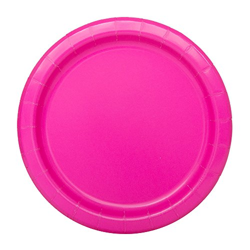 Neon Pink Paper Cake Plates