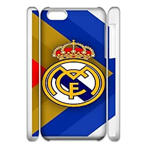 Protection Cover iphone5c 3D Cell Phone Case White Vevtr Real Madrid CF Personalized Durable Cases