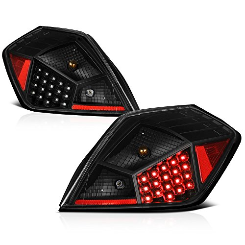 VIPMOTOZ Black LED Tail Light Lamp Assembly For 2007-2012 Nissan Altima 4-Door Sedan, Driver & Passenger Side ()