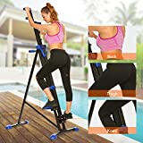 Asatr Step Climber Exercise Machine Folding Step Climber Cardio Stair Step Vertical Climber Stepper for Home,Office(US STOCK)