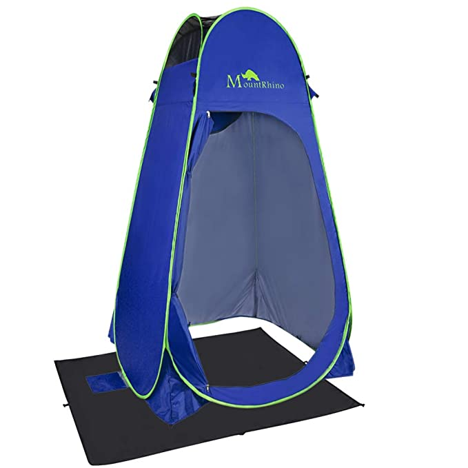 Mount Rhino Pop Up Tent Privacy Shelter Portable Toilet Camping Beach Dressing Shower Changing Room with Carrying Bag, Blue