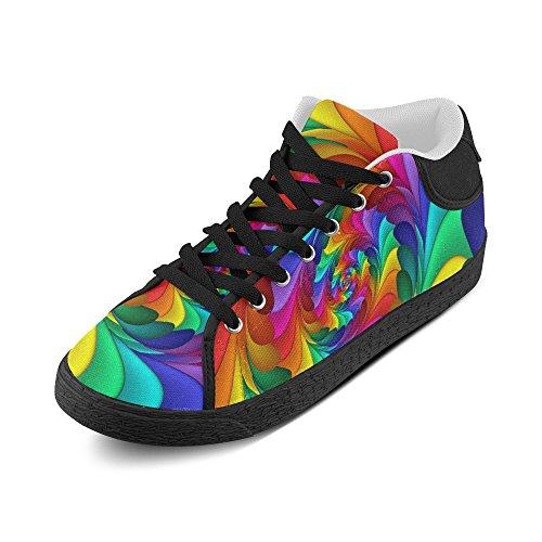Artsadd Psykedelisk Rainbow Spiral Chukka Canvas Sko For Kvinner (model003)
