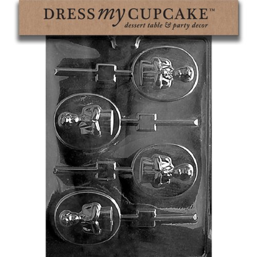 Dress My Cupcake DMCR046 Chocolate Candy Mold, Boy Communion Lollipop]()