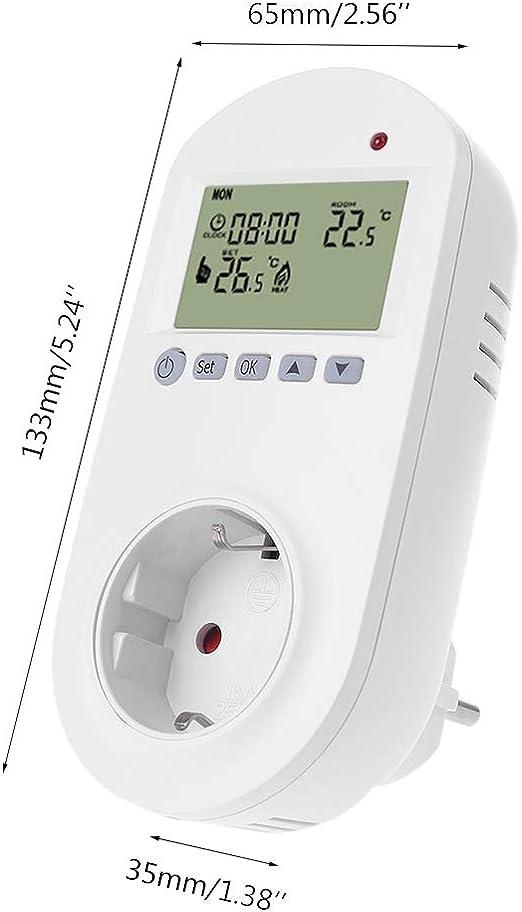 contr/ôleur de temp/érature ambiante du Plancher de Chauffage /électrique BIlinli Prise programmable du Thermostat EU de la Prise 16A