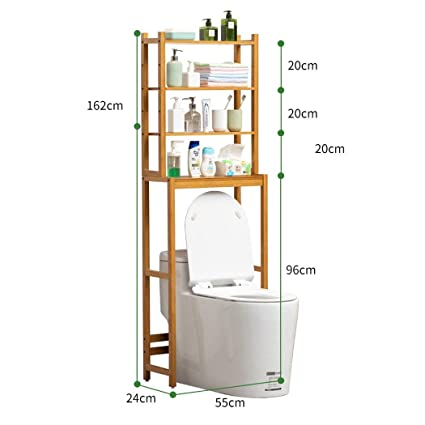 US 3-Tier Towel Storage Rack Over Toilet Laundry Washing Machine Bathroom Shelf