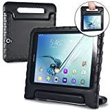 Samsung Galaxy Tab S2 9.7 case for kids [SHOCK PROOF KIDS TAB S2 CASE] COOPER DYNAMO Kidproof Child Tab S2 9.7 inch Cover, All Age Children | Kid Friendly Handle Stand, Light, Screen Protector (Black)
