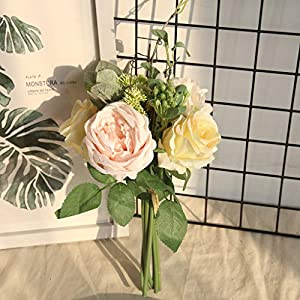 CapsA Artificial Flowers Phantom Rose Peony TOP Silk Flowers Bouquet Single Decor Wedding Mother's Day 102